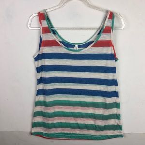 Color Story Beach Burnout Striped Tank Top